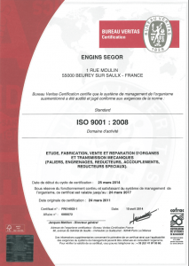 segor industries certification iso 9001